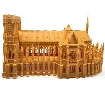 druk 3d z żywic światłoutwardzalnych architektura makieta katedry